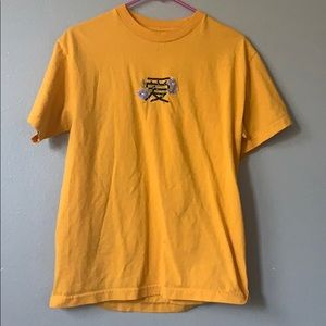 "yellow chinese ""Love"" top"